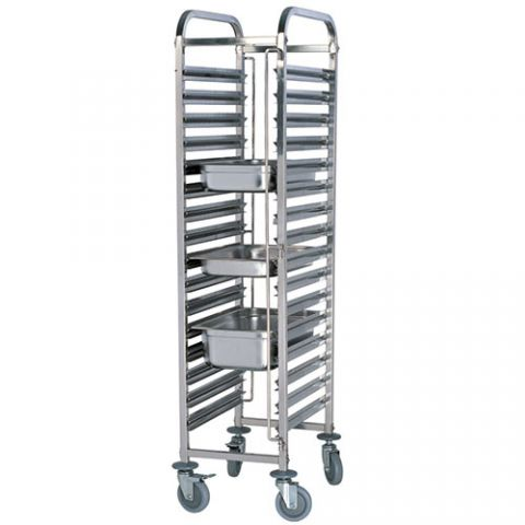 Stainless Steel 15 Tier GN Trolley TRS0015