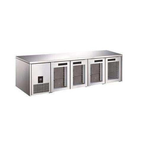 Glacian BCG62350 - 4 Glass Door Slim Under bench Fridge 2350 x 660mm