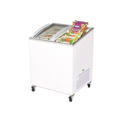 Bromic CF0200ATCG Curved Glass Chest Freezer.