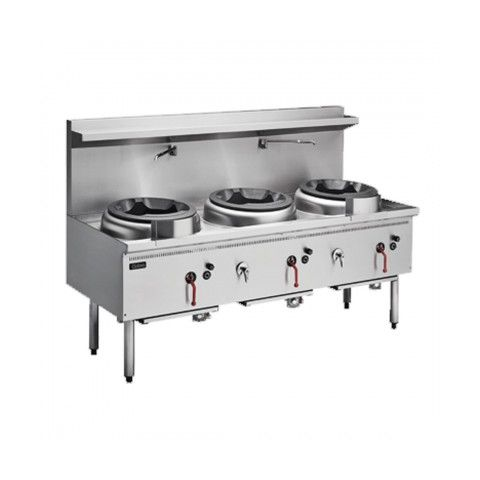 Cobra CW3H Gas Waterless Wok - 3 Burners