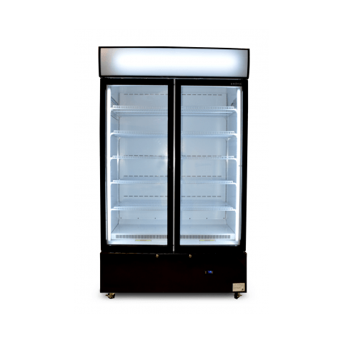 Bromic GM1000LCAS Cassette Flat Glass Door LED Upright Display Chiller