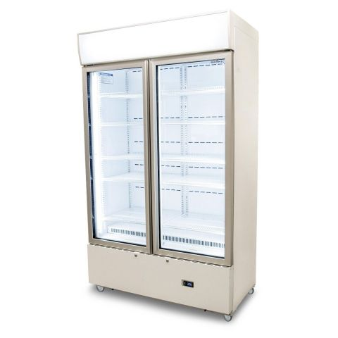 Bromic GM1000LWCAS Cassette 2 Glass Door LED Fridge Chiller White
