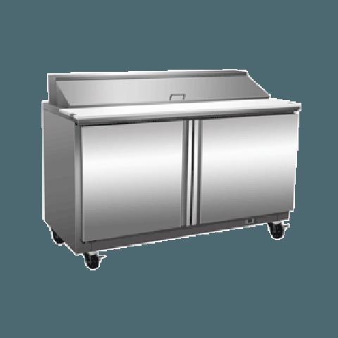 Exquisite ICC400H Two Door Sandwich / Salad Preparation Chiller - 406 Litres