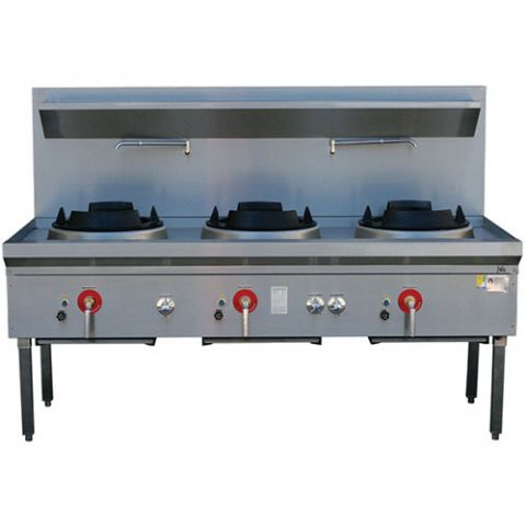 LKK-3B Three Burner Waterless Wok