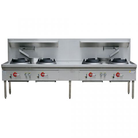 LKK-4B Four Burner Waterless Wok