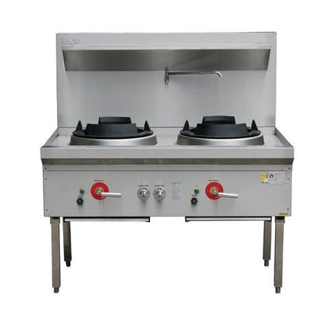 LKK-2B/C Two Burner Double Waterless Gas Wok