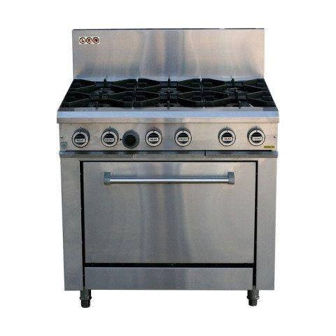 LKKOB6D+O 6 Gas Open Burner Cooktop and Oven