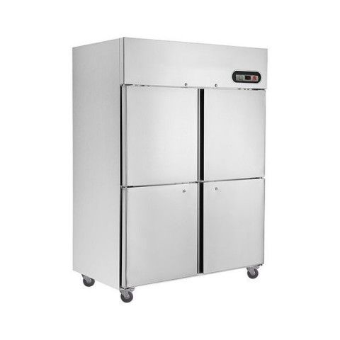 F.E.D. SUF1200 4 x 1/2 Doors S/Steel Upright Freezer