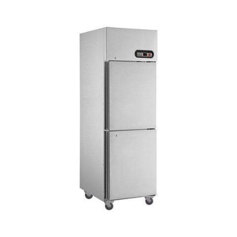 FED SUF500 2 x 1/2 Doors S/Steel Upright Freezer 500L