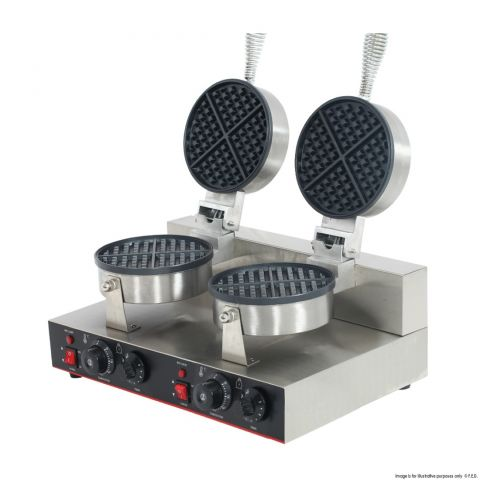 Double Plate Round Waffle Maker - TWB-2KW