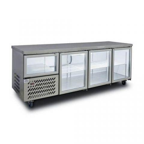 Anvil UBG2400 3 1/2 Glass Door Underbench Fridge