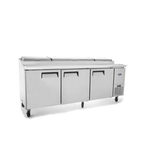Atosa  MPF8203 - Three Door Pizza Prep Table Fridge, 12 Tray