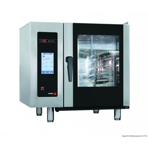 Fagor 6 trays electric advance plus touchscreen control combi oven APE-061
