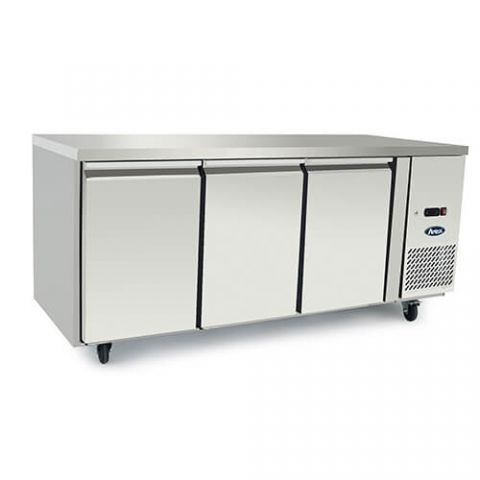Atosa EPF3432 - 3 Solid Door Underbench Fridge 1795 x 700