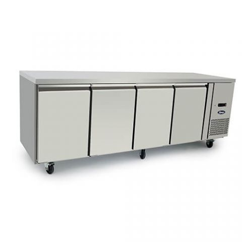 Atosa EPF3442 - 4 Solid Door Underbench Fridge 2230 x 700