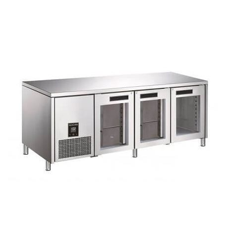 Glacian BCG72476 - 3 Glass Door Under bench Fridge 2476 x 760mm