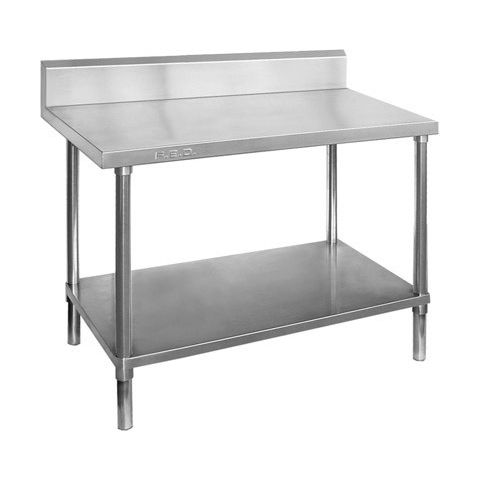 Stainless bench With Splash Back 600mm x 1800mm