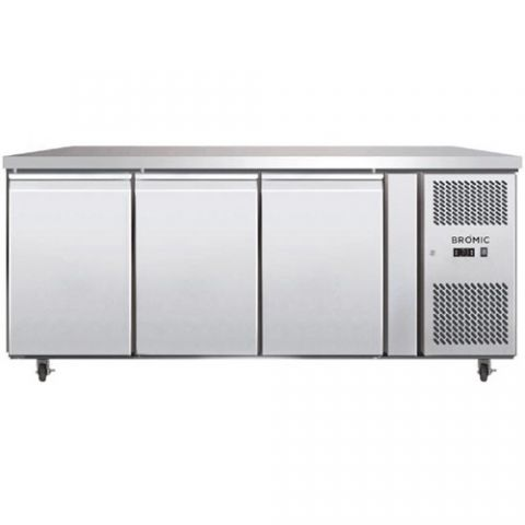 Bromic UBC1795SD 3 solid Door Bench Fridge