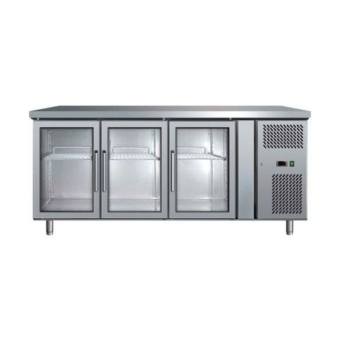 Bromic UBC1795GD 3 Glass Door Bench Fridge