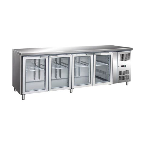 Bromic UBC2230GD 4 Glass Door Bench Fridge