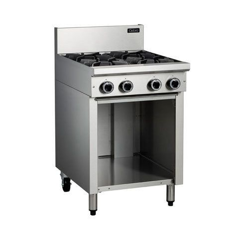 Cobra C6D/C/B 4 Burner Gas Cooktops On Open Cabinet Base