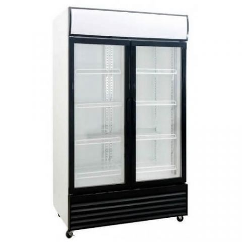 Saltas DFS1000 Double 2 Door Display Fridge Chiller