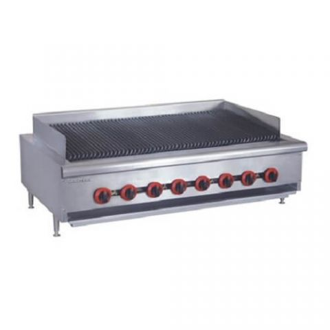 FED Gasmax QR-48E Eight Burner Bench Top Chargrill - 1220mm