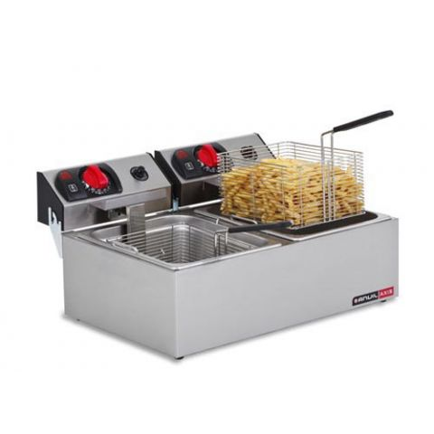 Anvil Axis FFA0002 Double Pan Deep Fryer