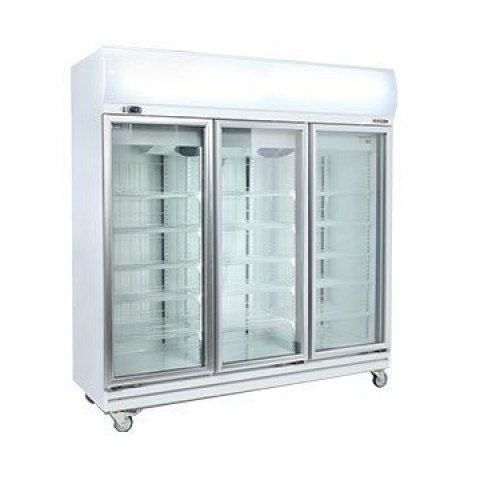 Bromic GD1500LF Upright 3 Glass Door Chiller w/Lightbox - 1507 Litre
