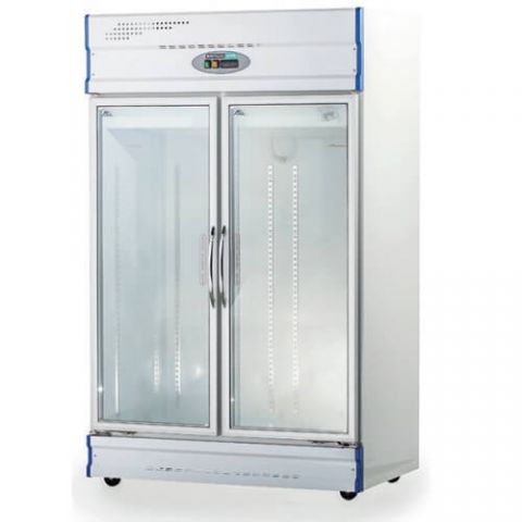 Anvil GDJ1260 Double Glass Door Fridge
