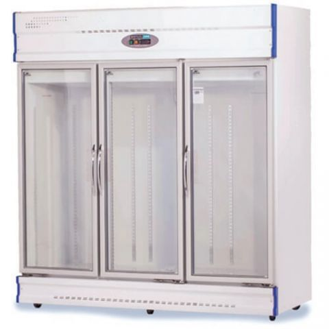 Anvil GDJ1880 Three Glass Door Fridge