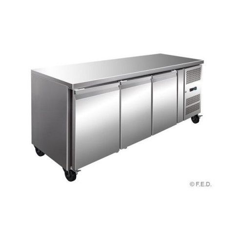 FED GN3100TN Tropicalised Three Door Under Bench Fridge -  1795mm