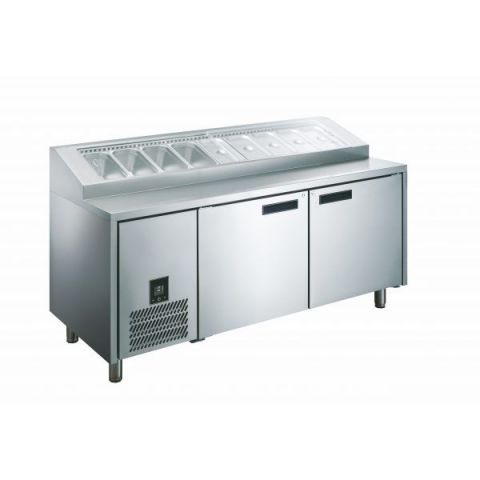 Glacian HPB2476 3 Door Pizza Prep Fridge 2476mm 12 Tray