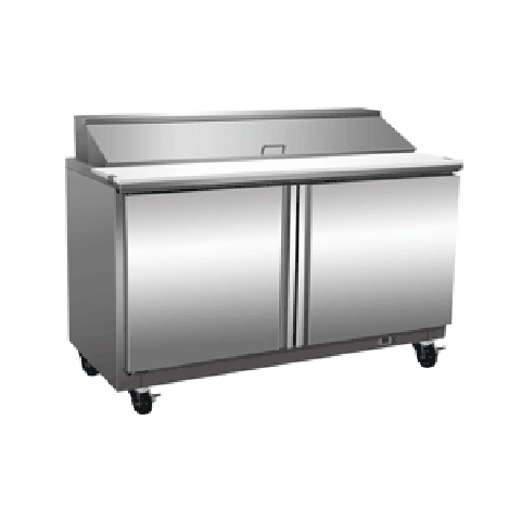 Exquisite ICC400H Two Door Sandwich / Salad Preparation Chiller - 406 Litres