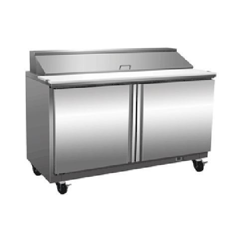 Exquisite ICC550H Two Door Sandwich / Salad Preparation Chiller - 527 Litres