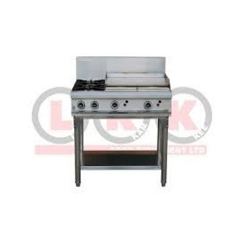 LKKOB6B 2 Gas open burner cooktop + 600mm Right Grill