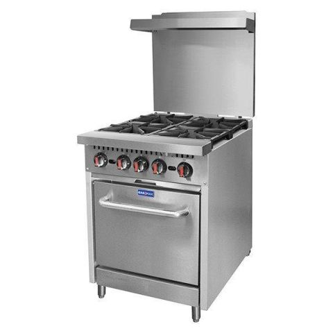 FED Gasmax S24(T) 4 Burner Gas Range With Oven