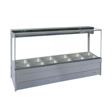 Roband S26/S26RD Square Glass Hot Food Display Bars