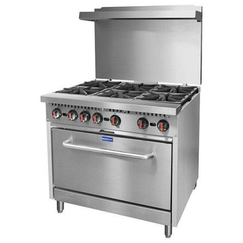 FED Gasmax S36(T) 6 Burner Gas Range With Oven