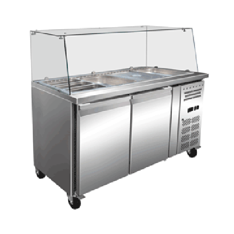 Exquisite SBC450H Two Door Salad / Noodle Bar - 428L