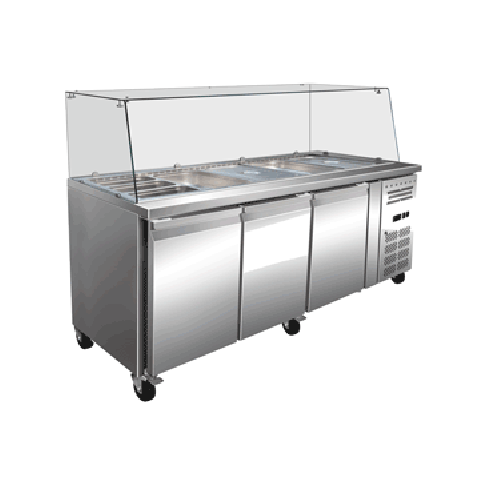 Exquisite SBC650H Three Door Salad / Noodle Bar - 635L
