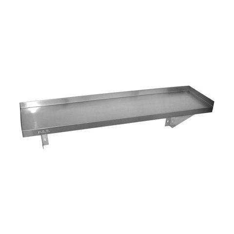 Stainless Solid Shelf 1500mm x 300mm