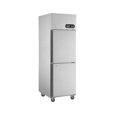 FED SUF500 2 x 1/2 Doors S/Steel Upright Freezer 500L