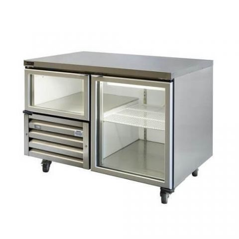 Anvil UBG1200 1 1/2 Glass Door Underbench Fridge