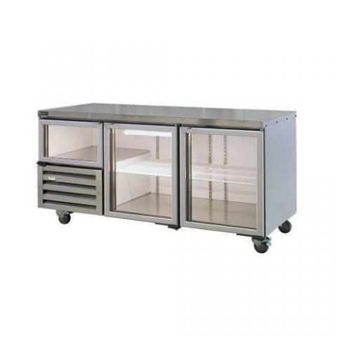 Anvil UBG1800 2 1/2 Glass Door Underbench Fridge