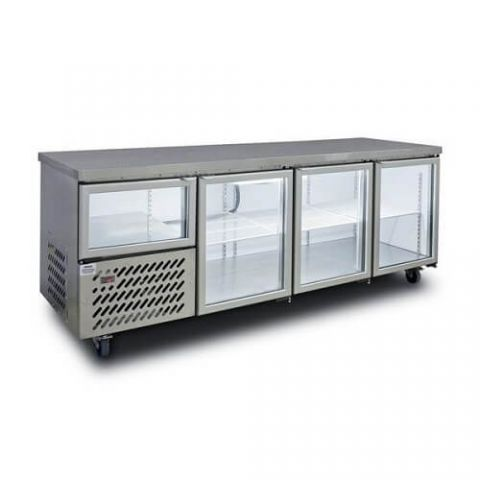 Anvil UBG2400 3 1/2 Glass Door Underbench Fridge