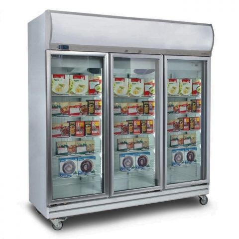 Bromic UF1500LF 3 Glass Door Upright Freezer 1507L